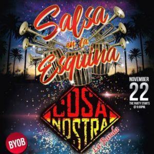"""Salsa Night with """"J Bobadilla & Cosa Nostra Live"""" plus Intro Salsa Class"""