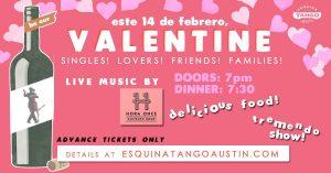 Valentine's Dinner, Music & Show: Celebrating for Love, Friendship & Family