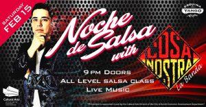 "Noche de Salsa with ""La Cosa Nostra"